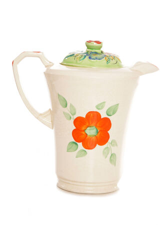 cutout: floral water jug studio cutout Stock Photo