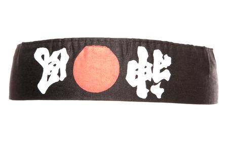 headband: Black Japanese ninja headband studio cutout