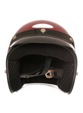 crash helmet: red bikers crash helmet cutout