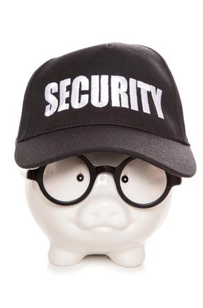 inteligent: nerdy security piggy bank cutout