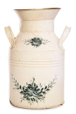 shabby chic milk churn vase cutout