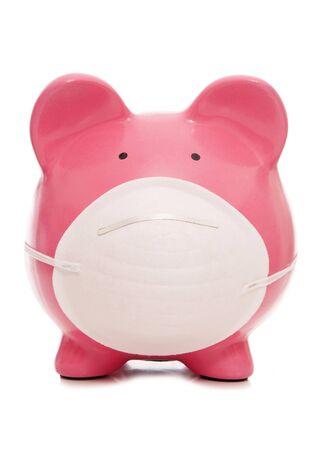 貯金箱汚染マスク切り抜きアンチを着て