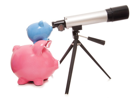 pig out: keeping an eye on your finances piggy bank cutout