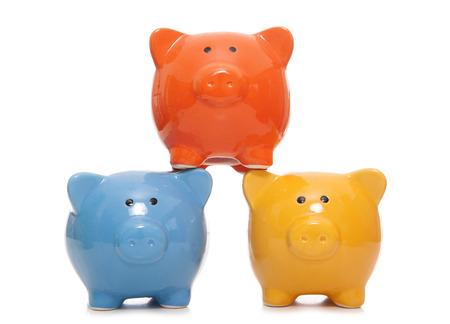 cutout: three piggy banks studio cutout