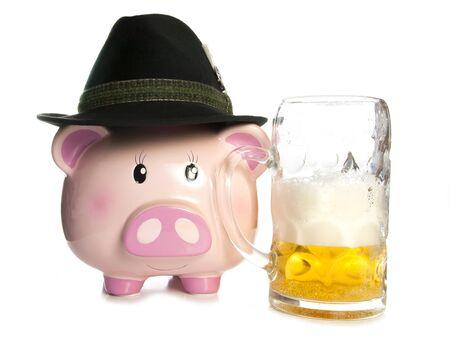 beer festival: saving money at a beer festival piggy bank cutout