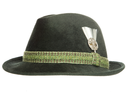 tyrolean: Green Tyrolean Ocktoberfest Bavarian hat cutout