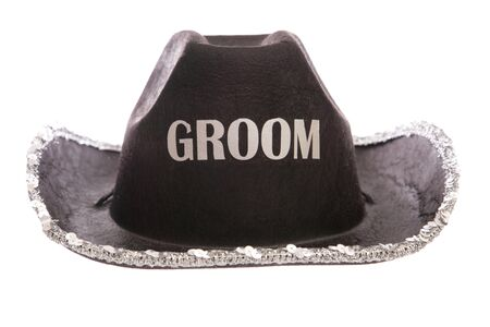 fancy dress: groom fancy dress cowboy hat cutout
