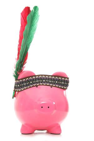piggybank: red indian piggybank studio cutout
