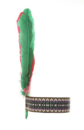 red indian: red indian headband fancy dress cutout