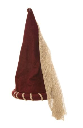fancy dress: red princess fancy dress hat cutout