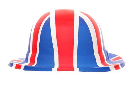 fancy dress party: union jack bowler hat fancy dress studio cutout Stock Photo