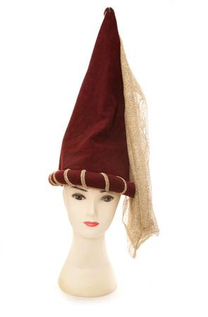 rapunzel: mannequin wearing a rapunzel princess hat cutout
