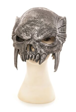 halloween mask: Mannequin wearing predator halloween mask cutout