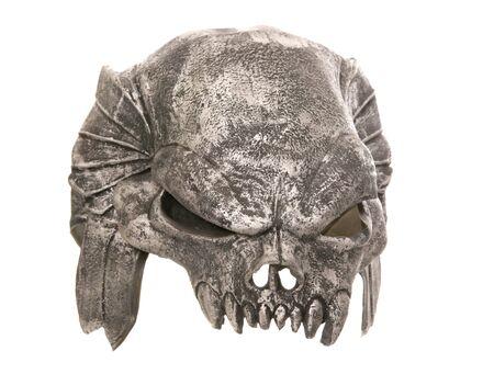 halloween mask: predator halloween mask studio cutout Stock Photo