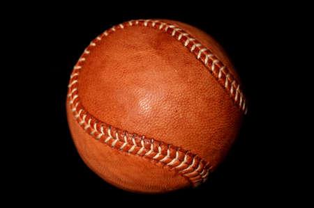 unmarked: vintage style baseball on black background