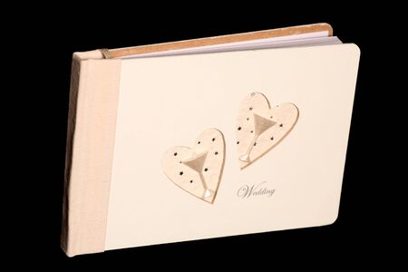 wedding guest: wedding guest book on black background