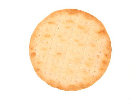 Single round cracker biscuit cutout 写真素材