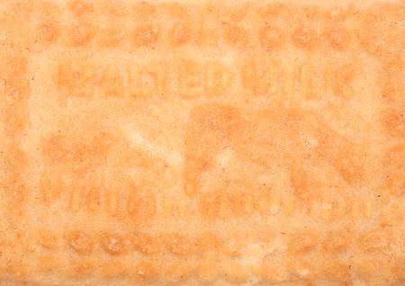Malted milk biscuit close up background