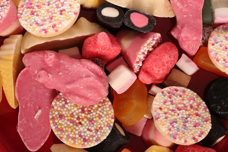 pick and mix sweets abstract background