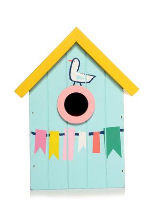 beach hut bird house cutout