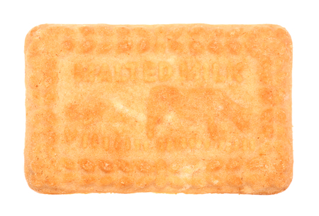 malted milk biscuit isolated on white background 写真素材