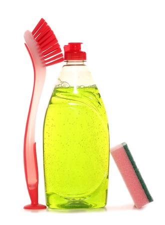 washing up liquid on white background