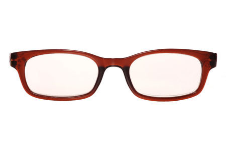 reading glasses on a white background