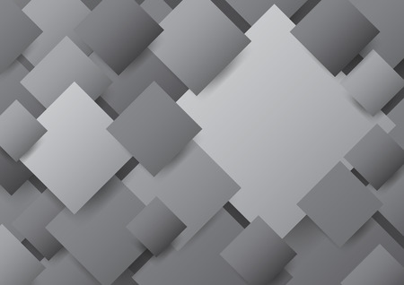 Overlapping black, white and gray diagonal blank square background Ilustracja