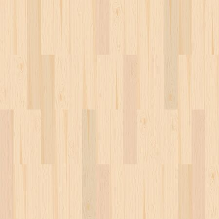 Seamless wooden parquet floor texture in light color from top view Vettoriali
