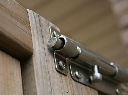 An unlocked metal latch. Stock Photo - 364339