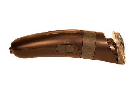 electric shaver: Un rasoio elettrico isolato su uno sfondo bianco.