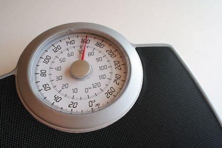 체중 규모의 근접 촬영입니다. 스톡 콘텐츠