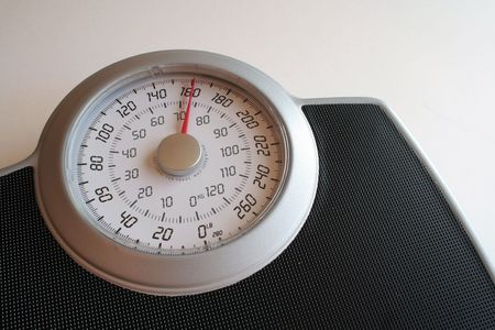 gewicht skala: Eine Nahaufnahme einer Gewichtskala.