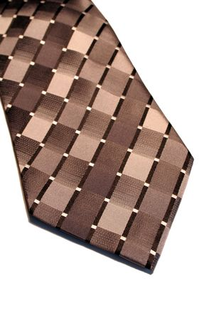 A closeup of an isolated black and silver neck tie. photo