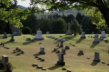 catacomb: A old cemetery on a bright sunny day. Stock Photo