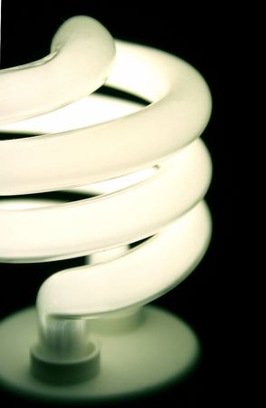 A closeup of an energy saver compact flourescent light bulb. Stock Photo - 722102