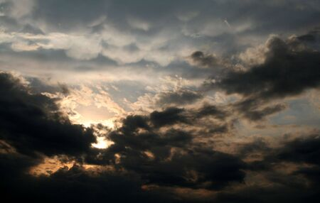 A dramatic ethereal sky. photo