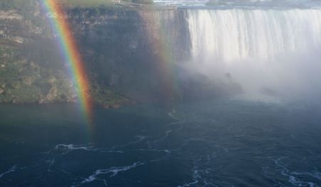 A rainbow shot against Niagara Falls. Stock Photo - 2150793