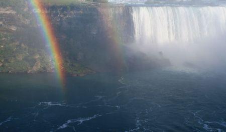 A rainbow shot against Niagara Falls. Stock Photo - 2150793