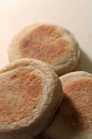 English muffins shot with a very shallow depth of field. Stok Fotoğraf