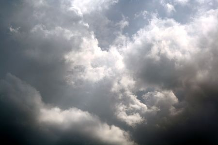 Omnious clouds forming a dramatic sky. Stock Photo - 2954467