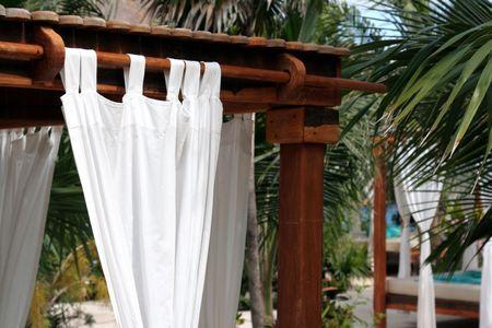 A closeup of a Sun Shelter Curtain. Stock Photo - 3038976