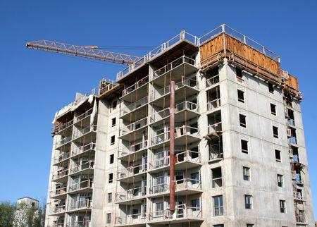 A high rise construction project. Zdjęcie Seryjne