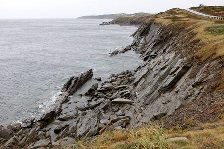 The rugged coast of Cape Breton Coast, right beside the  Cabot trail. photo