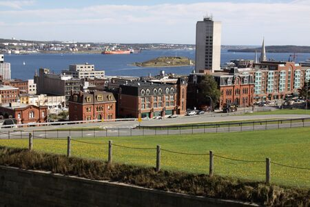 A view of the Halifax harbor from the Citadel. photo