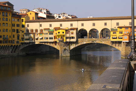 The Ponte Vecchio and Arno river in Florence, Italy. Stock Photo - 12971689