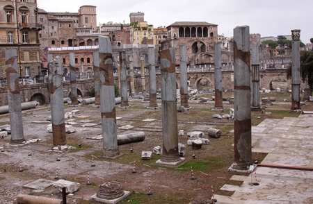 historic site: The ruins of Trajans forum in Rome, Italy.