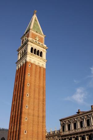 베니스, 이탈리아에서 세인트 마크의 종탑.