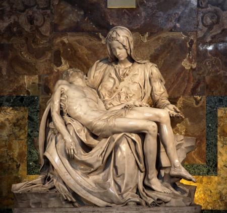 The Piet� (1498-1499) by Michangelo Buonarroti, housed in St. Peter's Basilica, Vatican. Reklamní fotografie - 13274059