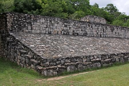 mesoamerica: The Ballcourt in the Mayan ruins of Ek Balam.   The name Ek Balam means Black Jaguar. It is located in the Yucatan Peninsula, Mexico.  Editorial